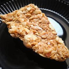 Homemade coconut-almond granola bars