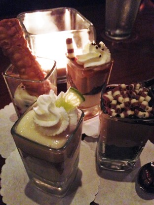 Shot glass desserts out in Long Island