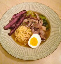 Hommade Asian-inspired noodle soup